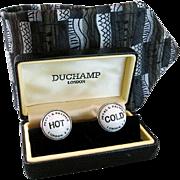 Unique novelty Duchamp of London Men's cufflink set & tie