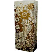 Ornate gilt porcelain vase Hutschenreuther Germany mid century