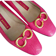 Helene Arpels couture shoes sizzling hot pink hot vintage