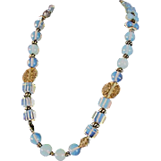 Stunning Moonstone necklace big bold stones and beads
