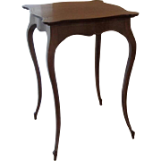 Old French fruitwood table fine Cabriole legs very demure