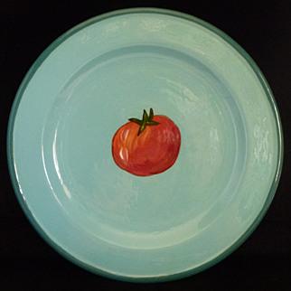 "Droll Designs Salad Plate 8 3/4"" Tomato Pattern"