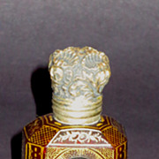 Deep Ruby French Overlaid Hand Painted Scent or Perfume Bottle