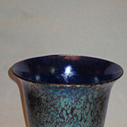 Large Loetz Signed Czechoslovakian Papillion Art Deco Iridescent Vase