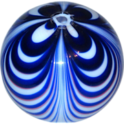 Hand-Blown Looped Nailsea 4 Color Witch Witch's Ball