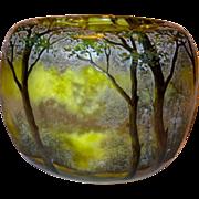 SOLD Daum Nancy Spring/Summer Landscape Cameo Vase