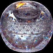 Signed Webb Controlled Bubble & Cut Glass Match Striker