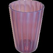 Steuben Oriental Orchid Opalescent Art Glass Tumbler