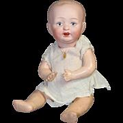 "Precious Antique 8"" German Bisque Baby Doll!"