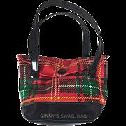 Vintage Vogue Ginny Doll Plaid Ginny's Swag Bag!