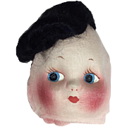 Vintage 1940s Doll Mask Face - Adorable! Handpainted