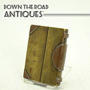 Trench Art Military Brass & Copper Book Lighter (Folk Art)