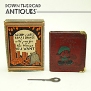 Scrappy Book Bank and Original Key - Mint in Box