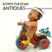 Marx Indian Riding Tricycle Tin and Vinyl Wind-up Toy