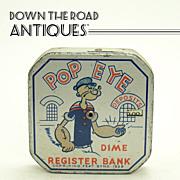 Tin Registering Popeye Bank