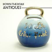 Porcelain Flow Blue Cedar Point Kettlebell Weight Bank