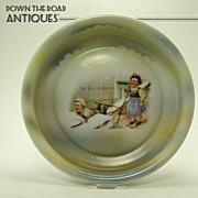 German Lithographed Baby Dish - c.1880