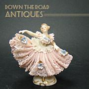 Signed German Finely Detailed Ballerina Porcelain Figure - 1910