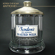 Borden's Malted Milk Container with Milk Glass Label