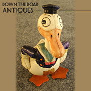 SOLD Early Waddling Long-Billed Celluloid Donald Duck Toy