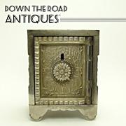 Treasure Safe Cast Iron Bank - 1890's