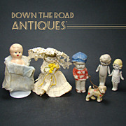 Collection of Bisque Dolls - 1910-20's