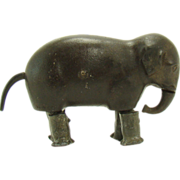 Cast Iron Elephant Ramp Walker - 1870's - Rare