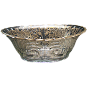 Large Cambridge Oval Bowl with Sterling Overlay - 1920's