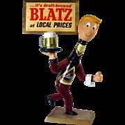 Blatz Man Advertising Sign - 1950's - Excellent to Near Mint
