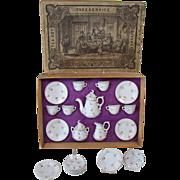 French Porcelain China Doll Tea Set - 1880's