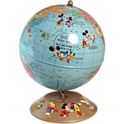 Walt Disney Productions World Globe Educational Toy - 1940's
