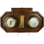 Wall-Hanging Thermometer, Barometer and Hygrometer - 1930's