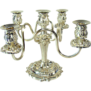 Silver Plated Five Place Candelabra From Lawrence Hotel c.1911