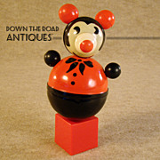 Early Celluloid Pie-Eyed Mickey Mouse Roly-Poly Toy