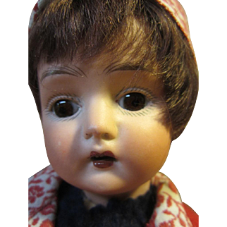Limoges French child, anchor mark, 15""