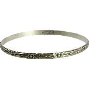 Vintage SS Danecraft Bangle (FCo) With a Floral Motif