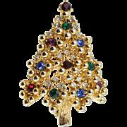 Vintage Eisenberg Multi-colored Christmas Tree Pin (Book Piece)