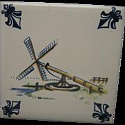 KLM tile Delft Amsterdam Holland Porcelain