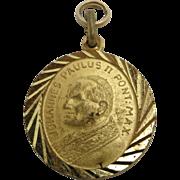 Saint Medal Gold tone metal John Paul II 1983 Jubilee