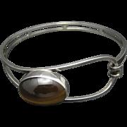 Sterling silver Bracelet Tiger's Eye Israel Modernist