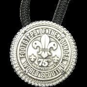 SOLD Boy Scouts of America BSA Bolo Tie 75th Anniversary