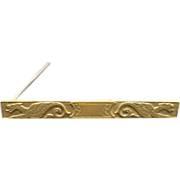 Griffin pin Gold plated metal bar pin 2 Mythological Medieval Faire