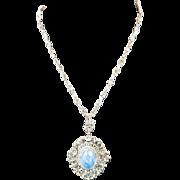 Sodalite Necklace Peruzzi Pendant Big Bold Filigree