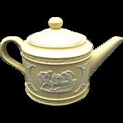 Wedgwood Mini Teapot Primrose Yellow Classical Figures