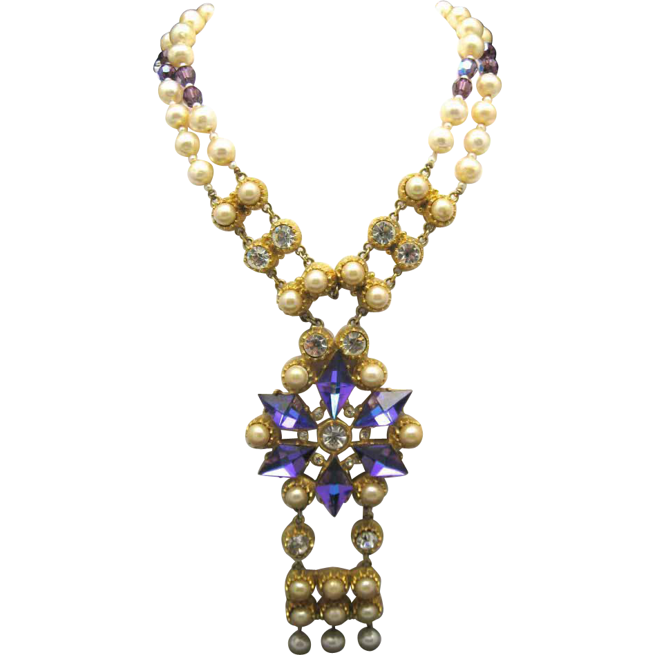 castlecliff necklace seventies pearls