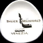 Bauer Grunwald Ashtray Potter Italian Venice Gondola
