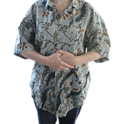 Hawaiian Shirt Cotton Beautiful Design Men's Medium