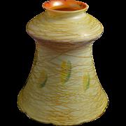 Quezal Art Glass Bell Shaped Iridescent Shade