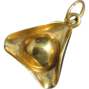 Vintage 14k Gold Colonial Hat Charm