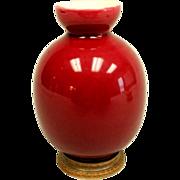 Boch Freres Oxblood Pottery Vase